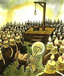 groupthink-candles-executing-a-light-bulb